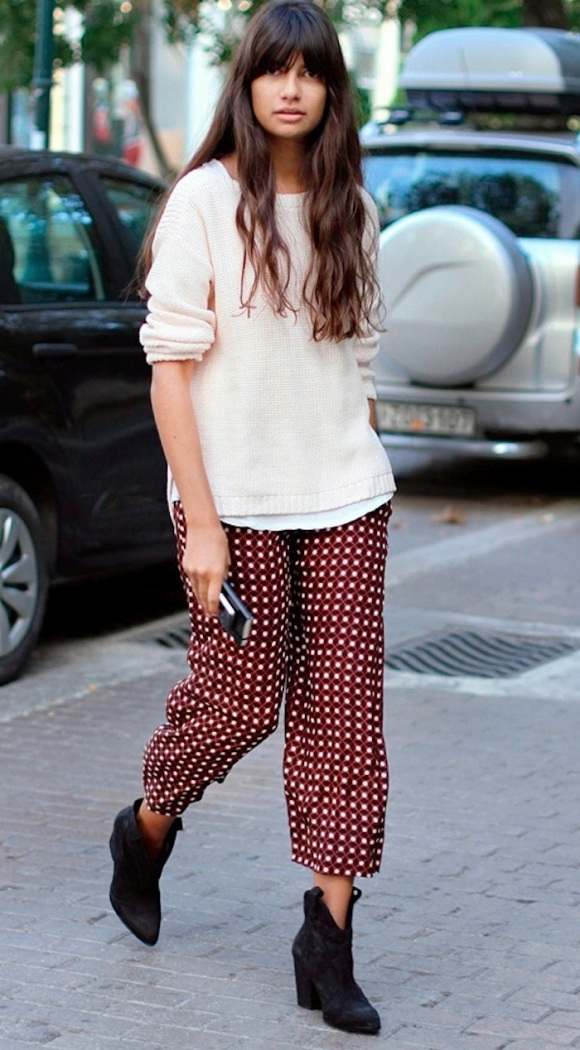 street-style-pajama-and-sweater