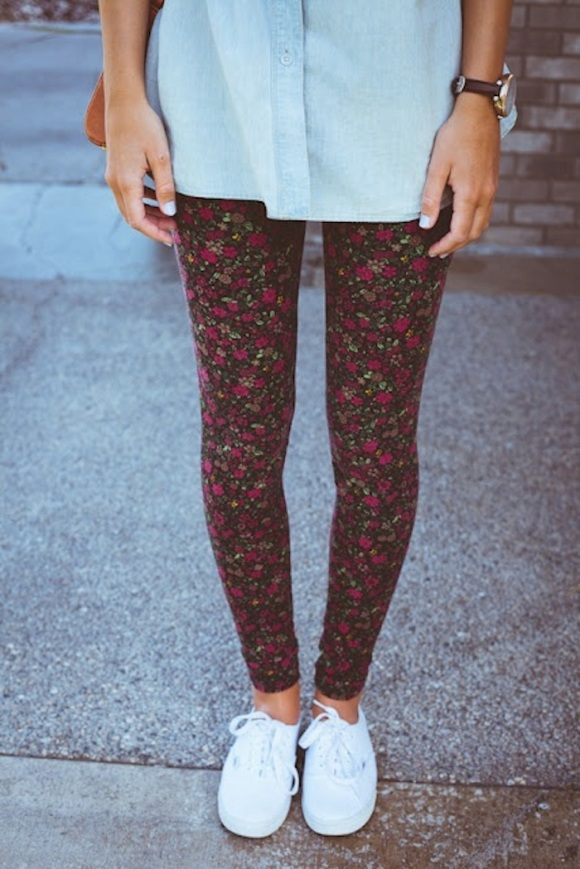 floral-printed-leggings