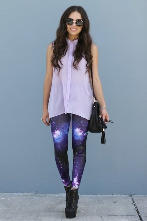 lavender-galaxy-printed-leggings