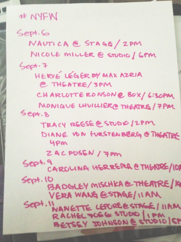 new-york-fashion-week-schedule
